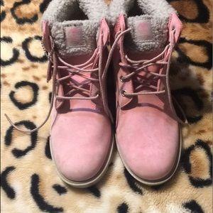 Pink Timberlands